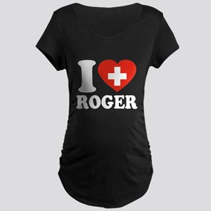 Love Roger Maternity Dark T-Shirt