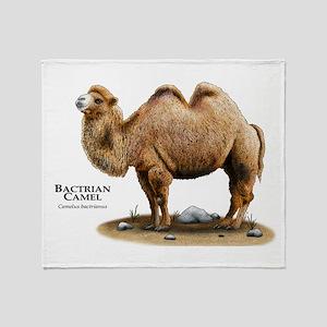 Bactrial Camel Throw Blanket