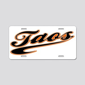 Taos Baseball Aluminum License Plate