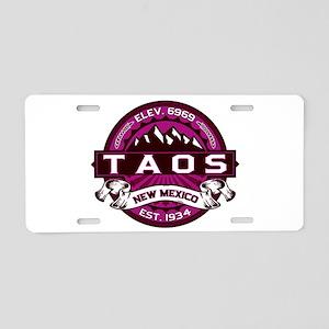 Taos Raspberry Aluminum License Plate