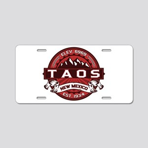 Taos Red Aluminum License Plate