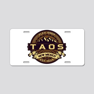 Taos Sepia Aluminum License Plate
