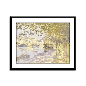 Seine at Rouen Framed Panel Print