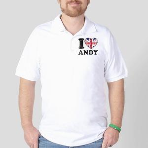 I Heart Andy Grunge Golf Shirt