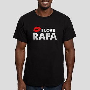 Rafa Lips Men's Fitted T-Shirt (dark)