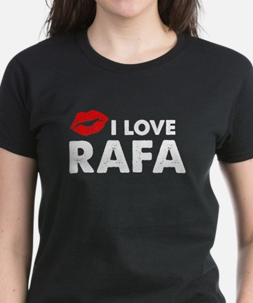 Rafa Lips Women's Dark T-Shirt