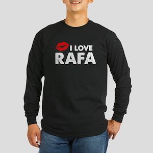 Rafa Lips Long Sleeve Dark T-Shirt
