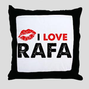 Rafa Lips Throw Pillow