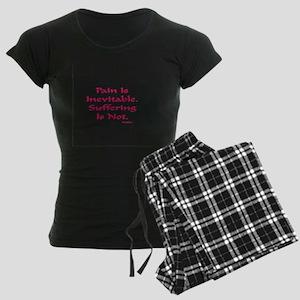 Pain Is Inevitable Gifts Women's Dark Pajamas