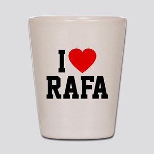 I Love Rafa Shot Glass