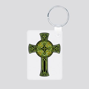 Celtic Cross Aluminum Photo Keychain