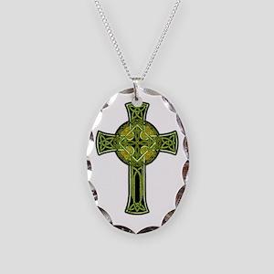 Celtic Cross Necklace Oval Charm