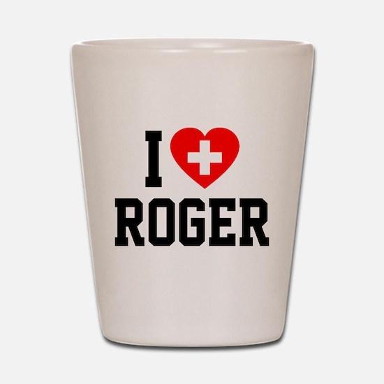 I Love Roger Shot Glass