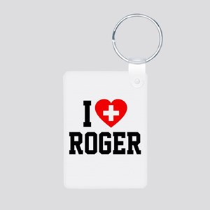 I Love Roger Aluminum Photo Keychain