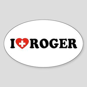 Love Roger Sticker (Oval)