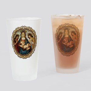Mary and Baby Jesus Drinking Glass