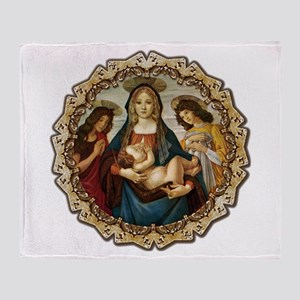 Mary and Baby Jesus Throw Blanket