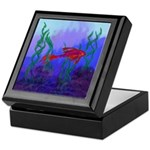 Beta Fish Brilliant Violet Re Keepsake Box