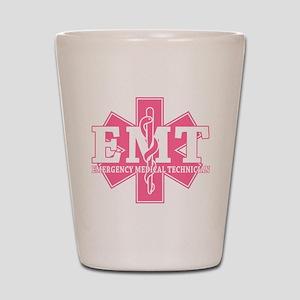 Star of Life EMT - pink Shot Glass