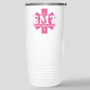 Star of Life EMT - pink Stainless Steel Travel Mug