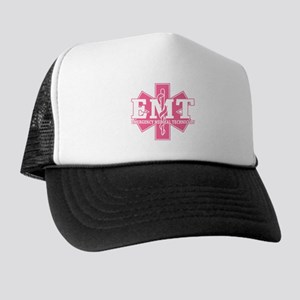 34b228babeb Star of Life EMT - pink Trucker Hat