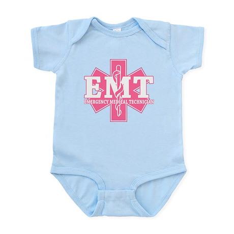Star of Life EMT - pink Infant Bodysuit