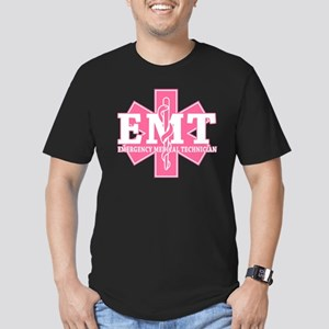 Star of Life EMT - pink Men's Fitted T-Shirt (dark