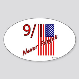 Never Forget Sticker (Oval)