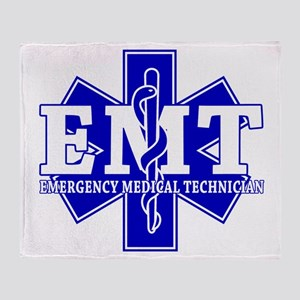 Star of Life EMT (blue) Throw Blanket