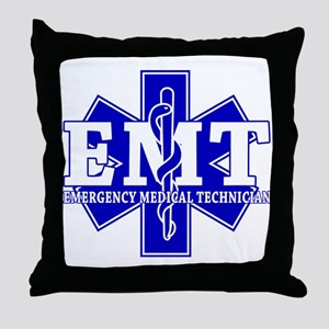 Star of Life EMT (blue) Throw Pillow