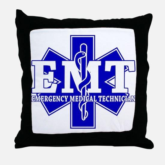 Star of Life EMT (blue) Throw Pillow