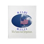 9-11 Not Forgotten Throw Blanket