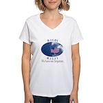 9-11 Not Forgotten Women's V-Neck T-Shirt