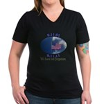 9-11 Not Forgotten Women's V-Neck Dark T-Shirt
