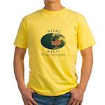 9-11 Not Forgotten Yellow T-Shirt
