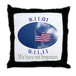 9-11 Not Forgotten Throw Pillow