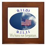 9-11 Not Forgotten Framed Tile
