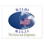 9-11 Not Forgotten Small Poster