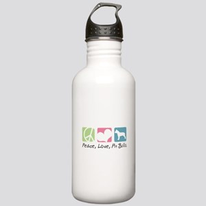Peace, Love, Pit Bulls Stainless Water Bottle 1.0L