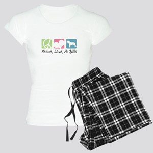 Peace, Love, Pit Bulls Women's Light Pajamas
