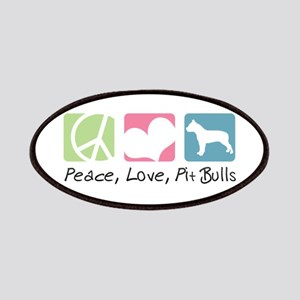 Peace, Love, Pit Bulls Patches