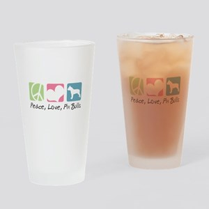 Peace, Love, Pit Bulls Drinking Glass