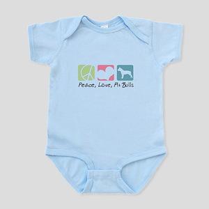 Peace, Love, Pit Bulls Infant Bodysuit