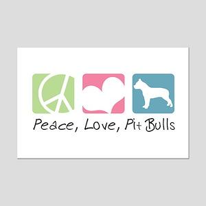 Peace, Love, Pit Bulls Mini Poster Print