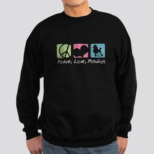 Peace, Love, Poodles Sweatshirt (dark)