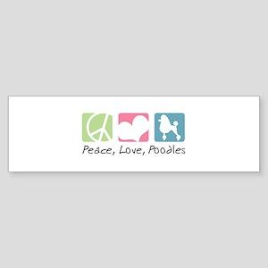 Peace, Love, Poodles Sticker (Bumper)