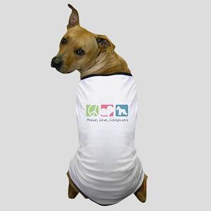 Peace, Love, Schnauzers Dog T-Shirt