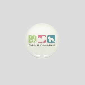 Peace, Love, Schnauzers Mini Button