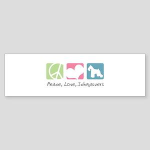 Peace, Love, Schnauzers Sticker (Bumper)