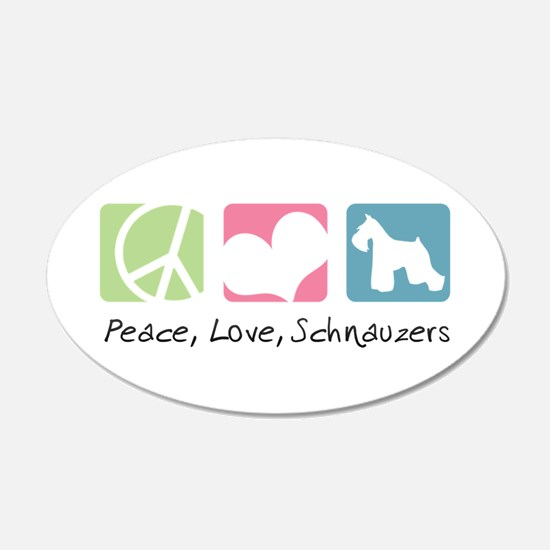 Peace, Love, Schnauzers 22x14 Oval Wall Peel